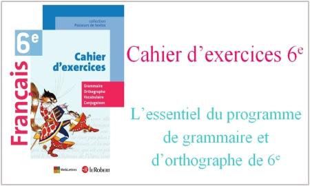 Cahier d'exercices 6e